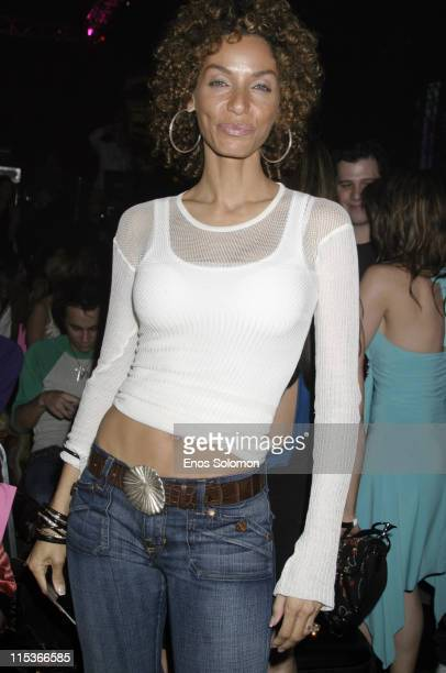 Nicole Murphy during Cadillac Presents Rock Republic Fall 2005 Fashion Show Backstage and Front Row at Sony Studios in Culver City California United...
