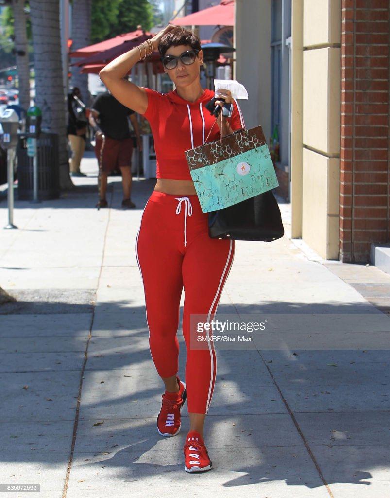 Nicole Murphy is seen on August 19, 2017 in Los Angeles, California