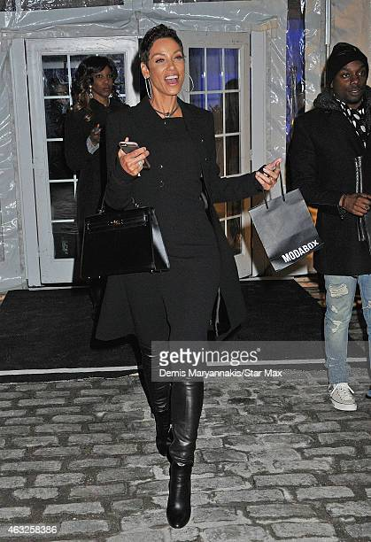Nicole Murphy is seen on February 11 2015 in New York City