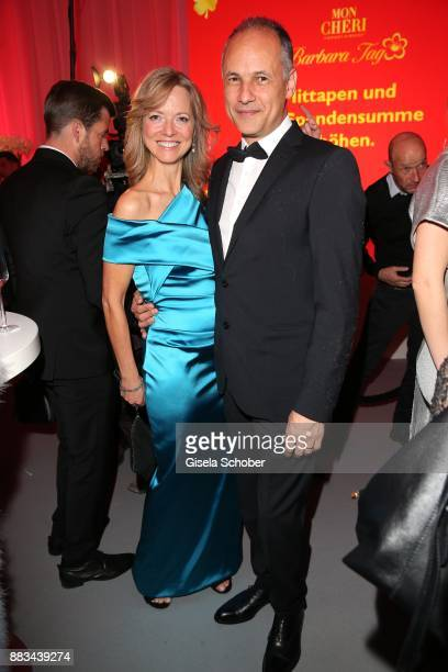 Nicole Noevers and her husband Karim during the Mon Cheri Barbara Tag at Postpalast on November 30 2017 in Munich Germany