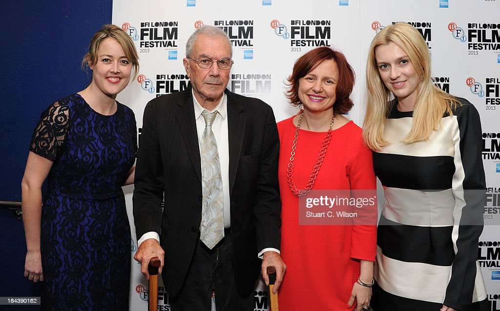 Nicole O'Donohue, Michael White, Clare Stewart and Gracie Otto attend a screening of 'The Last Impresario' during the 57th BFI London Film Festival at Odeon West End on October 13, 2013 in London, England.