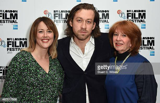 Nicole O'Donohue Simon Stone and Jan Chapman attend 'The Daughter' Red Carpet arrivals during the BFI London Film Festival at Vue Leicester Square on...