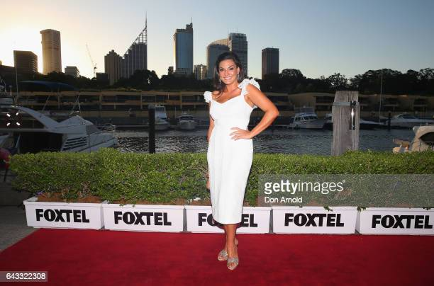 Nicole O'Neil attends The Real Housewives of Sydney Launch Event at Otto restaurant on February 21 2017 in Sydney Australia