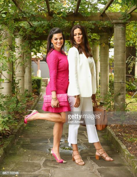 Nicole O'Neill and Krissy Marsh poses during a photo call for the Real Housewives of Sydney at Chiswick Restaurant on May 12 2017 in Sydney Australia