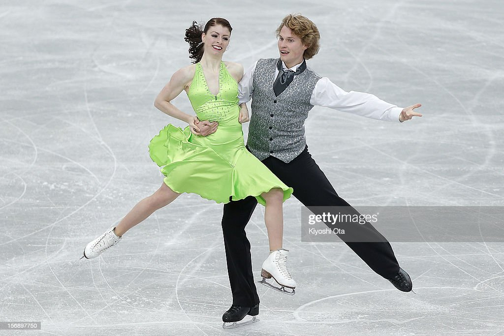 Nicole Orford and Thomas Williams of Canada compete in the Ice Dance Free Dance during day two of the ISU Grand Prix of Figure Skating NHK Trophy at Sekisui Heim Super Arena on November 24, 2012 in Rifu, Japan.