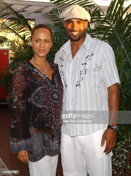 Nicole Parker and Boris Kodjoe during UPN All Star Summer Party at Shutters in Santa Monica California United States