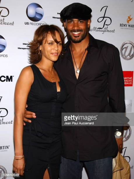 Nicole Parker and Boris Kodjoe during Usher's 25th Birthday Bash 'Flashback 1978' Arrivals at Pearl in West Hollywood California United States