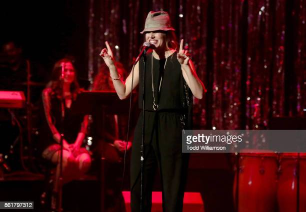 Nicole Parker performs onstage at National Breast Cancer Coalition Fund's 17th Annual Les Girls Cabaret at Avalon Hollywood on October 15 2017 in Los...