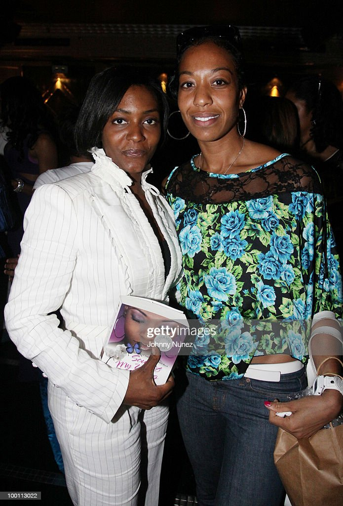 Nicole Paultre-Bell and Sari Baez attend a press reception for 'Souls of My Young Sisters' at Covet on May 20, 2010 in New York City.
