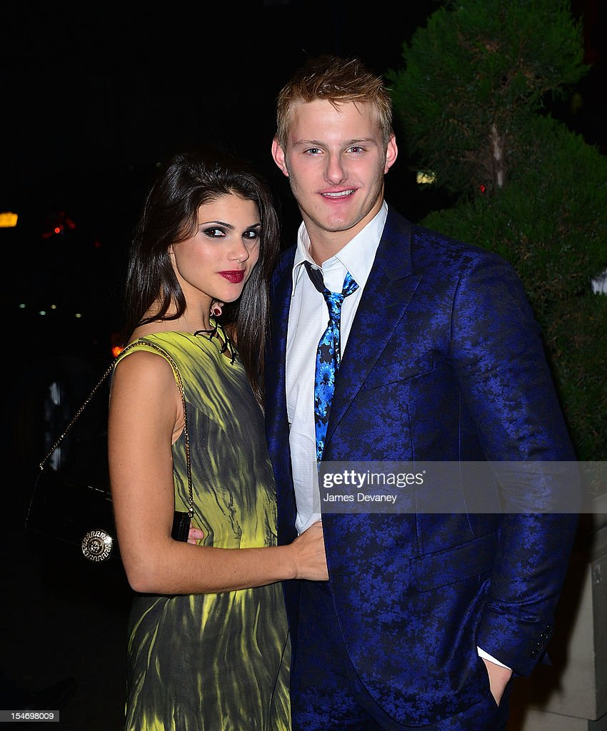Nicole Pedra and Alexander Ludwig attend the Versace Dinner at The Waldorf Towers on October 24, 2012 in New York City.