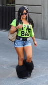 Nicole Polizzi of the reality TV show 'Jersey Shore' goes shopping on May 26 2011 in Florence Italy