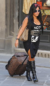 Nicole Polizzi of the reality TV show 'Jersey Shore' is seen shopping on May 25 2011 in Florence Italy