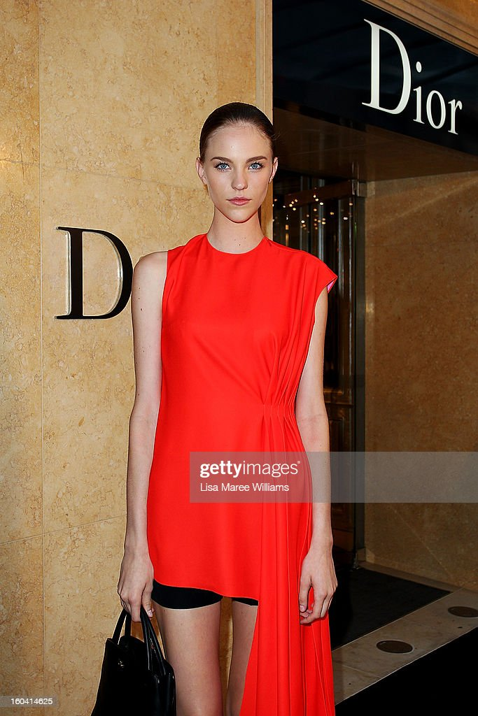 Nicole Pollard attends the opening of the Christan Dior Sydney store on January 31, 2013 in Sydney, Australia.