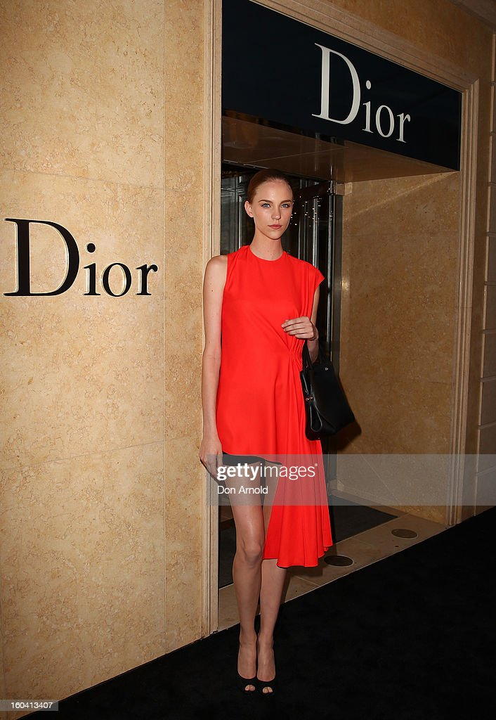 Nicole Pollard poses at the opening of the Christan Dior Sydney store on January 31, 2013 in Sydney, Australia.