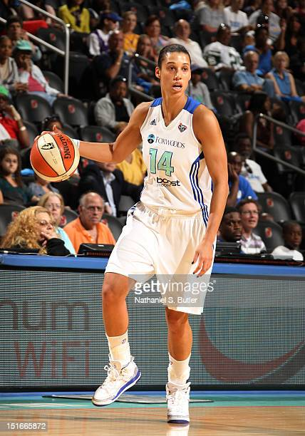 Nicole Powell of the New York Liberty looks to pass during a game on September 9 2012 at the Prudential Center in Newark New Jersey NOTE TO USER User...