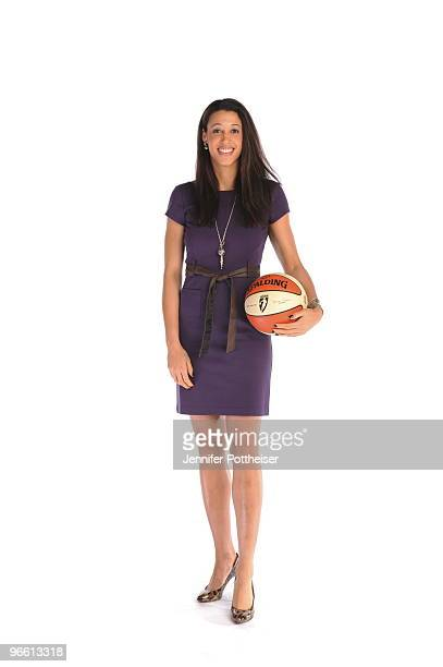Nicole Powell of the New York Liberty poses for a portait during the NBA Circuit as part of the 2010 AllStar weekend on February 12 2010 at the Hyatt...