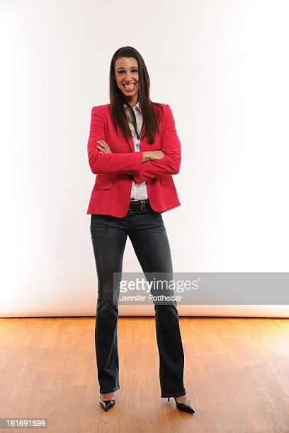 Nicole Powell of the New York Liberty poses for portraits during the NBAE Circuit as part of 2013 AllStar Weekend at the Hilton Americas Hotel on...