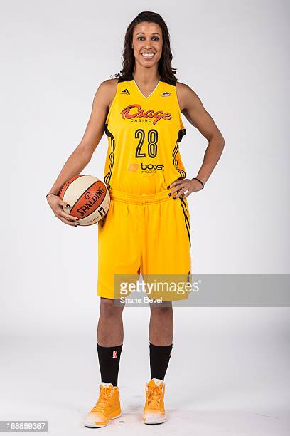 Nicole Powell of the Tulsa Shock poses for a picture during the team media day photo shoot on May 15 2013 at the BOK Center in Tulsa Oklahoma NOTE TO...