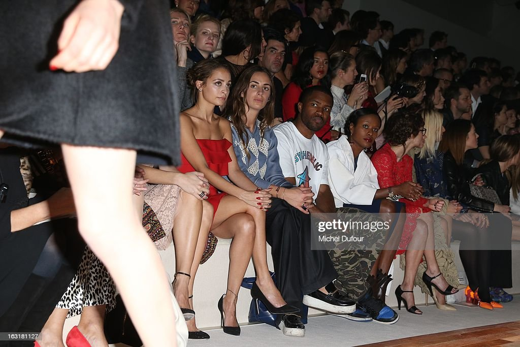 Nicole Richie, Alexia Niedzielski, Franck Ocean, his mother and Melanie Bernier attend the Valentino Fall/Winter 2013 Ready-to-Wear show as part of Paris Fashion Week on March 5, 2013 in Paris, France.