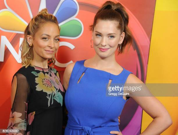 Nicole Richie and Briga Heelan arrive at the 2017 Summer TCA Tour NBC Press Tour at The Beverly Hilton Hotel on August 3 2017 in Beverly Hills...
