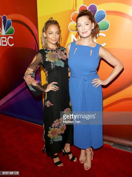 Nicole Richie and Briga Heelan arrive to the 2017 Summer TCA Tour NBC Press Tour held at The Beverly Hilton Hotel on August 3 2017 in Beverly Hills...
