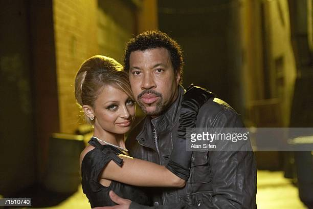 Nicole Richie and Lionel Richie appear on the set of his ''I Call It Love'' video shoot on July 23 2006 in Hollywood California