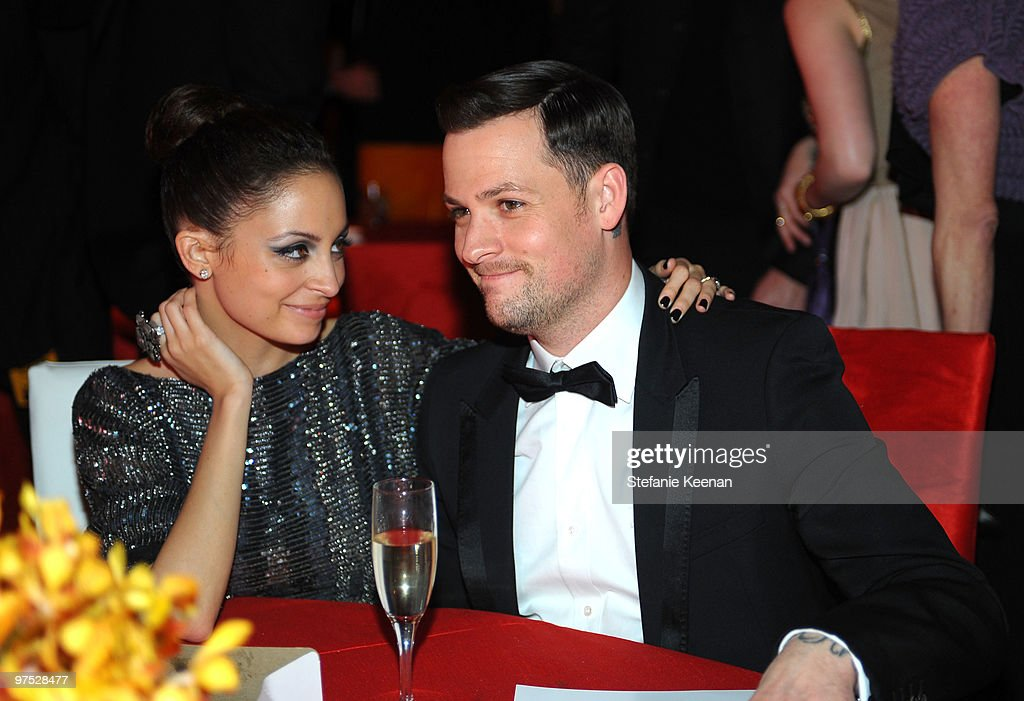 Nicole Richie and musician Joel Madden attend the 18th Annual Elton John AIDS Foundation Oscar Party at Pacific Design Center on March 7, 2010 in West Hollywood, California.