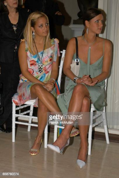 Nicole Richie and Nicky Hilton attend Kathy and Rick Hilton's party for Donald Trump and 'The Apprentice' at the Hiltons' Home on February 28 2004 in...