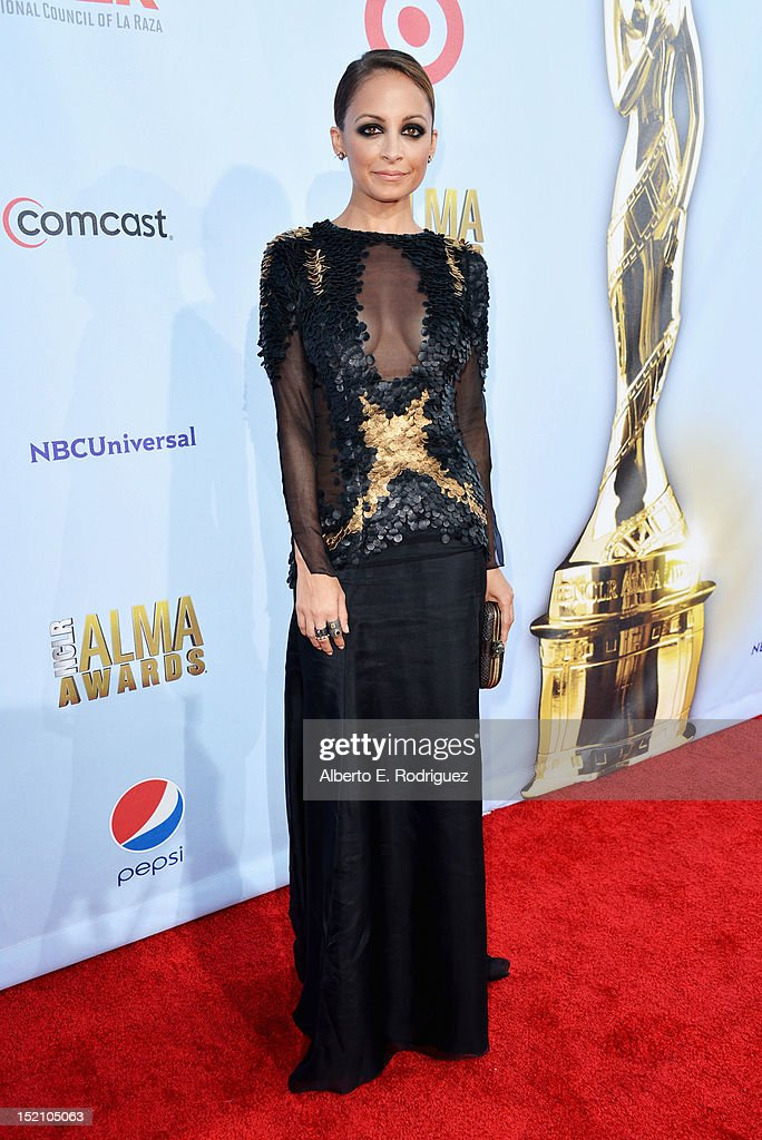 <a gi-track='captionPersonalityLinkClicked' href=/galleries/search?phrase=Nicole+Richie&family=editorial&specificpeople=201646 ng-click='$event.stopPropagation()'>Nicole Richie</a> arrives at the 2012 NCLR ALMA Awards at Pasadena Civic Auditorium on September 16, 2012 in Pasadena, California.