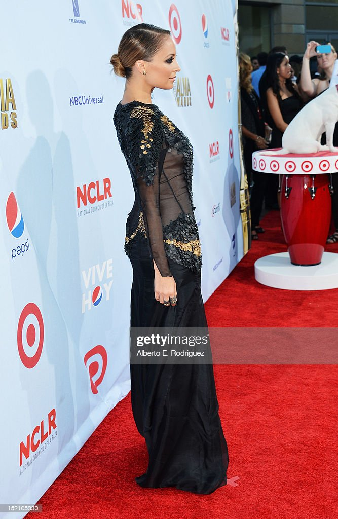 Nicole Richie arrives at the 2012 NCLR ALMA Awards at Pasadena Civic Auditorium on September 16, 2012 in Pasadena, California.