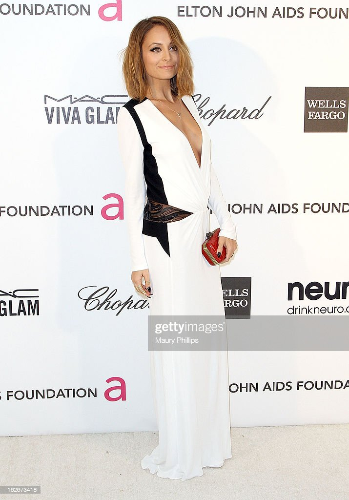 Nicole Richie arrives at the 21st Annual Elton John AIDS Foundation Academy Awards Viewing Party at Pacific Design Center on February 24, 2013 in West Hollywood, California.
