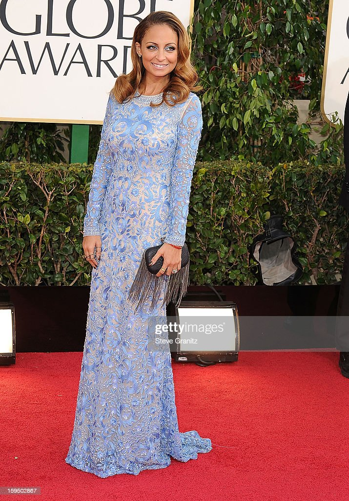 Nicole Richie arrives at the 70th Annual Golden Globe Awards at The Beverly Hilton Hotel on January 13, 2013 in Beverly Hills, California.