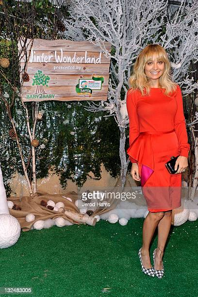 Nicole Richie arrives at the Baby2Baby Partners with Huggies Santa Diaper to host Winter Wonderland event on November 12 2011 in Beverly Hills...