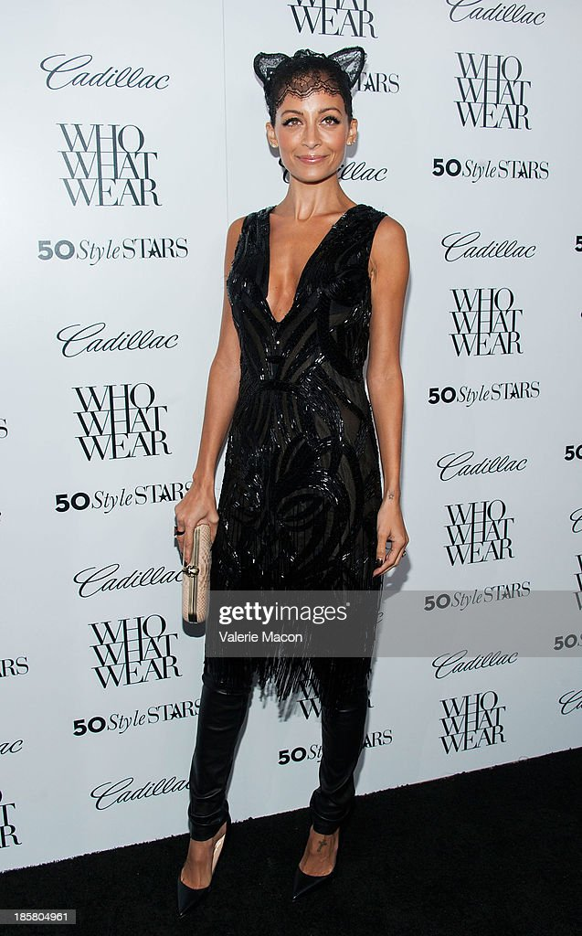 <a gi-track='captionPersonalityLinkClicked' href=/galleries/search?phrase=Nicole+Richie&family=editorial&specificpeople=201646 ng-click='$event.stopPropagation()'>Nicole Richie</a> arrives at the Who What Wear And Cadillac's 50 Most Fashionable Women Of 2013 Event at The London Hotel on October 24, 2013 in West Hollywood, California.