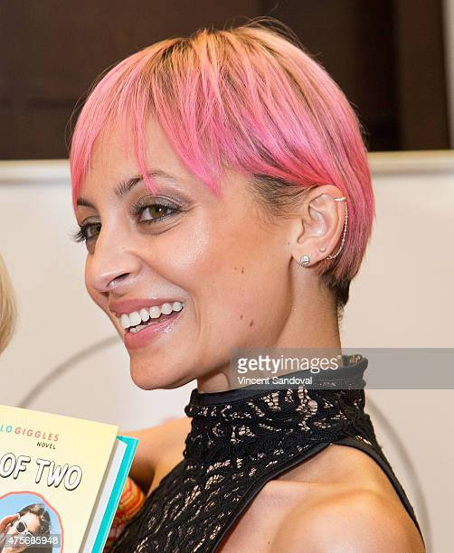 Nicole Richie attends a discussion for Sophia Rivka Rossi's new book 'A Tale of Two Besties' at Barnes Noble bookstore at The Grove on June 2 2015 in...
