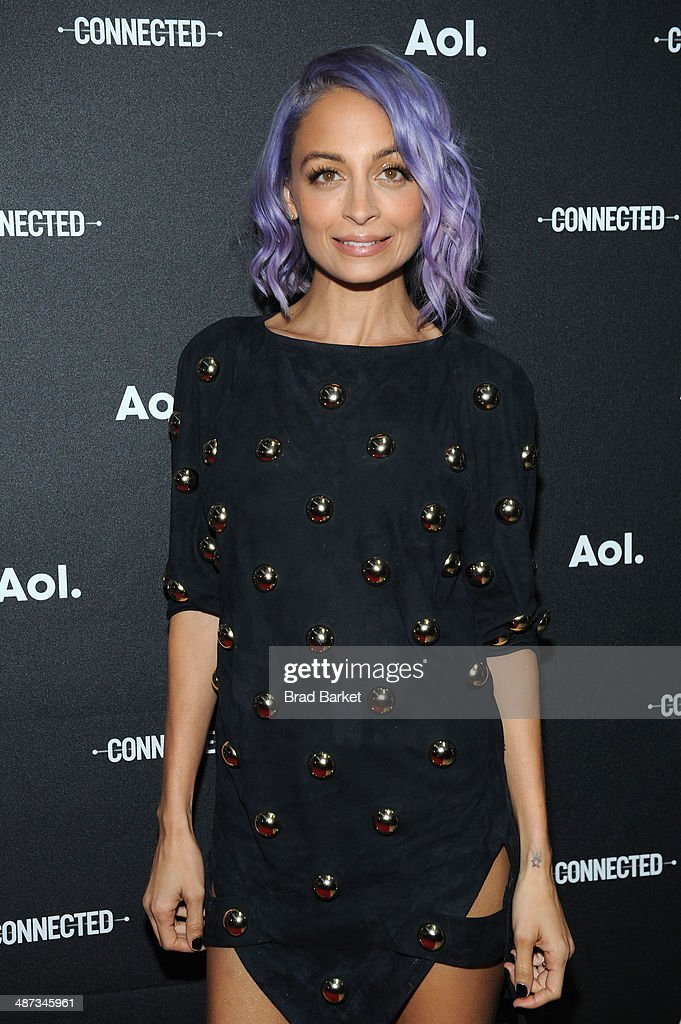Nicole Richie attends the 2014 AOL NewFronts at Duggal Greenhouse on April 29, 2014 in New York, New York.