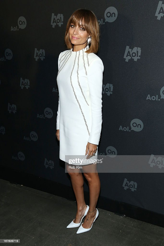 Nicole Richie attends the AOL 2013 Digital Content NewFront on April 30, 2013 in New York City.