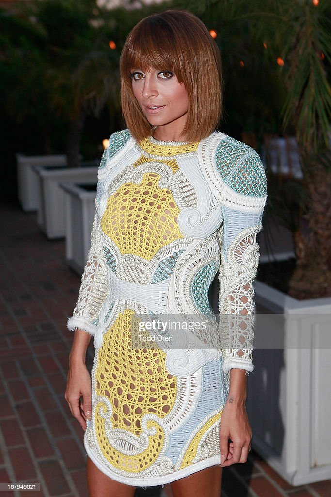 <a gi-track='captionPersonalityLinkClicked' href=/galleries/search?phrase=Nicole+Richie&family=editorial&specificpeople=201646 ng-click='$event.stopPropagation()'>Nicole Richie</a> attends the Balmain LA Dinner at Chateau Marmont on May 2, 2013 in Los Angeles, California.
