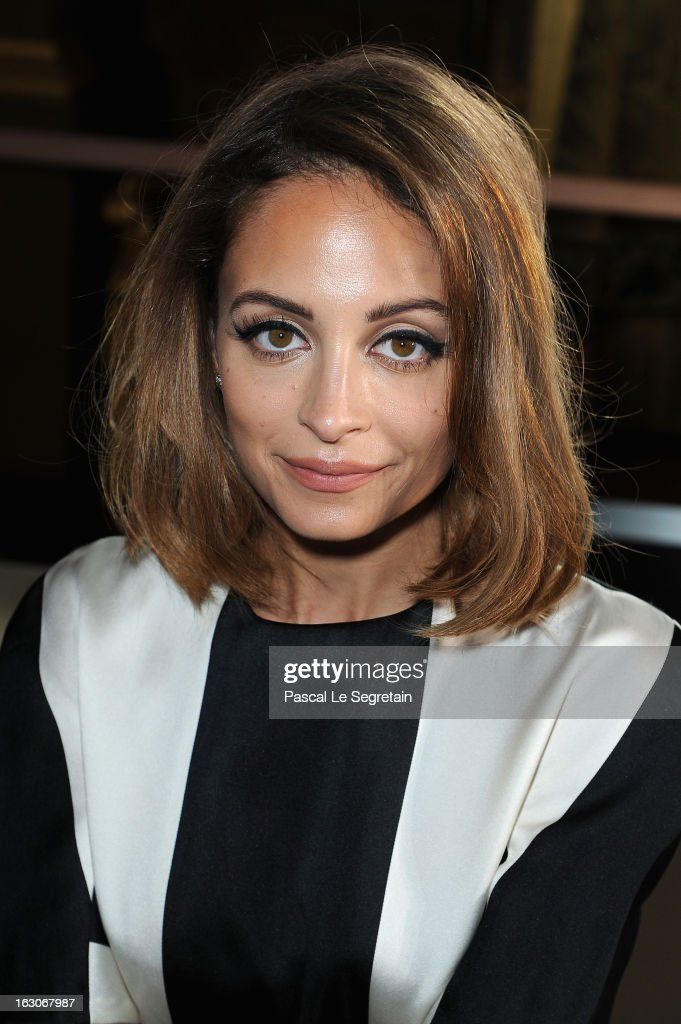 <a gi-track='captionPersonalityLinkClicked' href=/galleries/search?phrase=Nicole+Richie&family=editorial&specificpeople=201646 ng-click='$event.stopPropagation()'>Nicole Richie</a> attends the Stella McCartney Fall/Winter 2013 Ready-to-Wear show as part of Paris Fashion Week on March 4, 2013 in Paris, France.