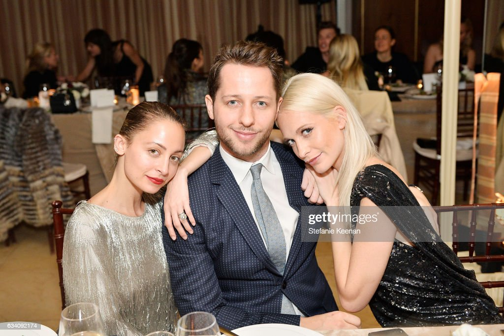 Nicole Richie, Derek Blasberg and Poppy Delevingne attend Rachel Zoe's Los Angeles Presentation at Sunset Tower Hotel on February 6, 2017 in West Hollywood, California.