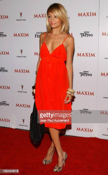 Nicole Richie during Maxim Magazine's Hot 100 Arrivals at Montmartre Lounge in Hollywood California United States