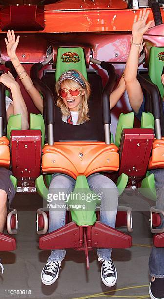 Nicole Richie during Nicole Richie on 'Tatsu' at Six Flags Magic Mountain May 7 2006 at Six Flags Magic Mountain in Valencia California