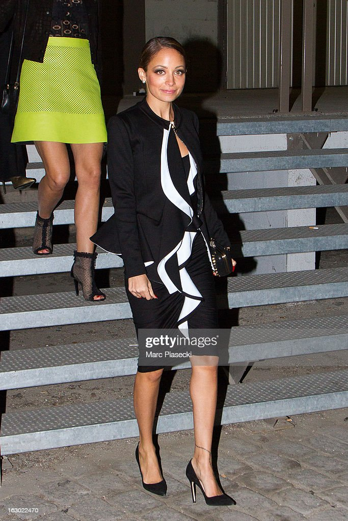 Nicole Richie is seen leaving the 'Givenchy' Fall/Winter 2013 Ready-to-Wear show as part of Paris Fashion Week on March 3, 2013 in Paris, France.