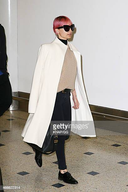 Nicole Richie is seen upon arrival at Sydney Airport on March 18 2015 in Sydney Australia