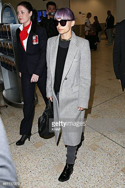 Nicole Richie is seen upon arrival at Sydney International Airport on June 24 2014 in Sydney Australia