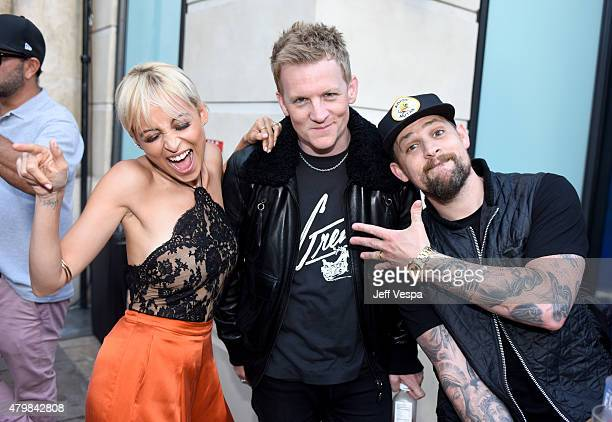 Nicole Richie Josh Madden and singer Joel Madden attend VH1's 'Candidly Nicole' Season 2 Premiere Event at House of Harlow at The Grove on July 7...