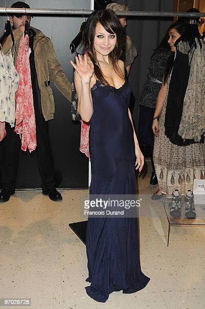 Nicole Richie presents her new fashion collection 'Winter Kate' at Galeries Lafayette on February 24 2010 in Paris France