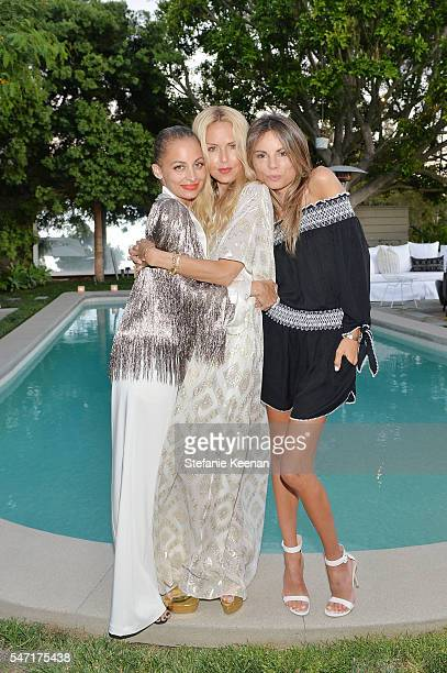 Nicole Richie Rachel Zoe and Erica Pelosini attend NETAPORTER celebrates Rachel Zoe capsule collection on July 13 2016 in Los Angeles California