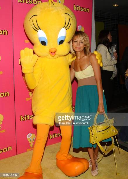 Nicole Richie with Tweety during Tweety 'Natural Blonde' Shopping Party and Clothing Launch Arrivals at Kitson in Los Angeles California United States