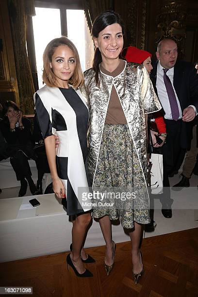 Nicole Ritchie and Giovanna Battaglia attend the Stella McCartney Fall/Winter 2013 ReadytoWear show as part of Paris Fashion Week on March 4 2013 in...